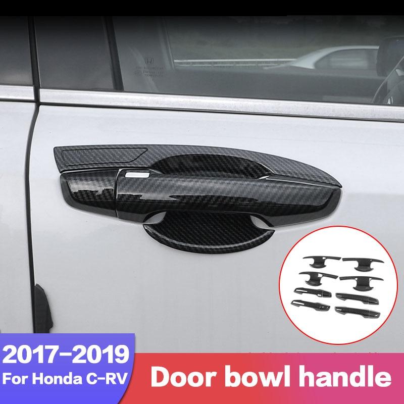 8*Carbon fiber Outer Door Handle Bowl Decorator Trim Fit Toyota Camry 2018 2019