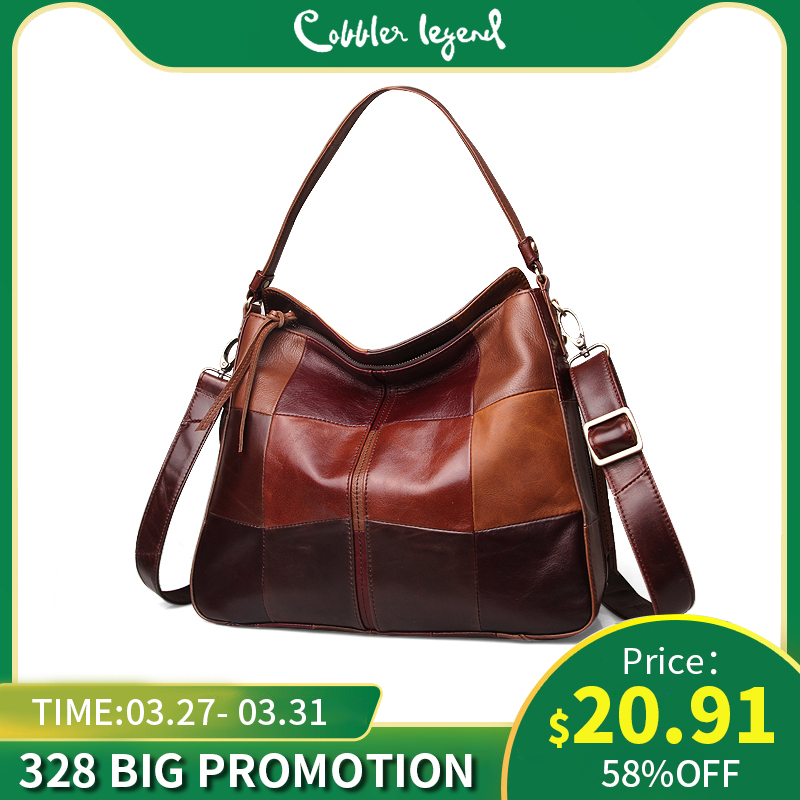 Cobbler Legend Genuine Leather Ladies Bucket Bag Women Bag Pocket Casual Handbags Shoulder Crossbody Large Capacity Purse 2019