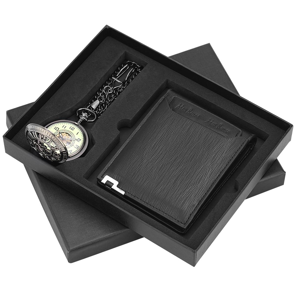 presente conjunto antigo mecânico pingente fob relógios