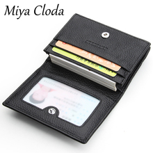 Leather business card holder men's business large-capacity card package multi-card business card holder mini card holder