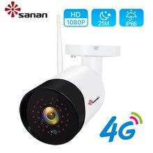 Sanan H.265 Outdoor Gsm Cctv Camera 4G Sim kaart 30Pcs Ir Led Nachtzicht 25 Meter 1080P surveillance Beveiliging Ip Camera Onvif