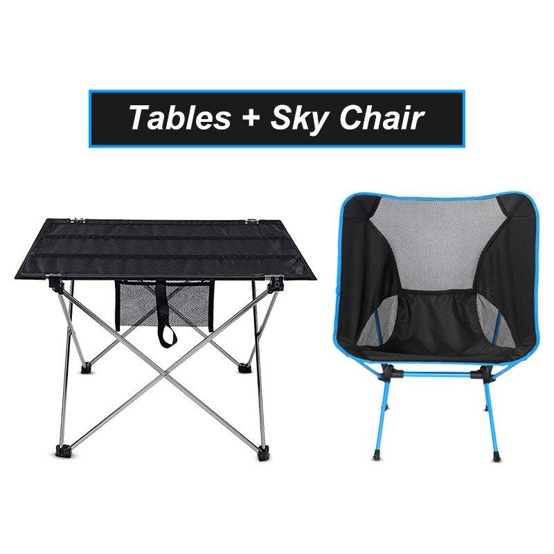 Уличный складной стол, портативная мебель для кемпинга, ультралегкие алюминиевые компьютерные столы для кровати, скалолазания, пешего тури...