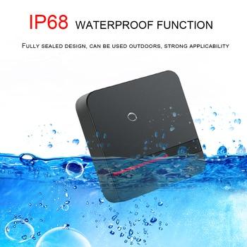 Long Range RFID Reader 125KHZ /13.56MHZ Proximity Card Reader Wiegand 26/34 IP68 Waterproof IC Card Access Control Card Reader