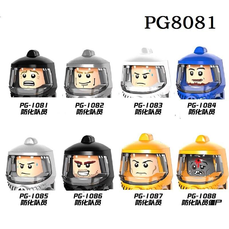Оборонительная членов команды серии Кирпичи Модель Строительные блоки елочных игрушек для детей PG8081