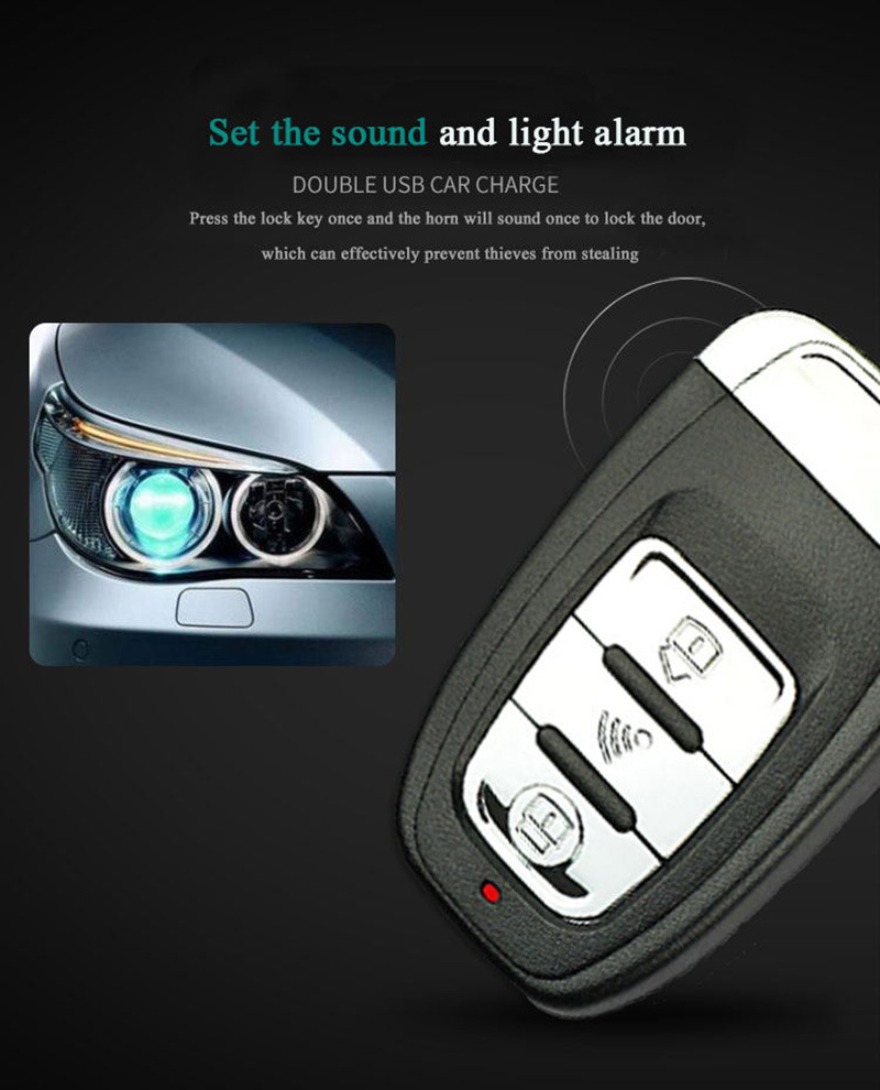 Car Central Locking Car Alarm Keyless Entry System For Toyota Start Stop Button Signaling Auto Start Alarm Style Remote Start
