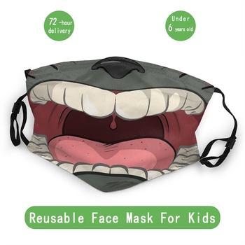Totoro Children Non-Disposable Face Mask Ghibli Dustproof Mask Protection Mask Respirator Mouth Muffle