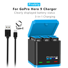 Зарядное устройство для аккумуляторов для GoPro 9, умная коробка для быстрой зарядки, коробка для хранения литий-ионных батарей, аксессуары дл...