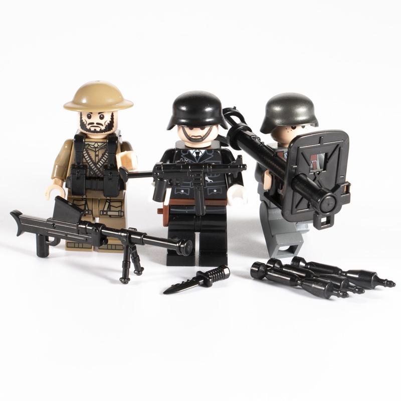 50 pc Weapon minifigure Military Swat Police Tool Rifle Pistol L brik compatible