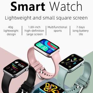Image 2 - 男性と女性のためのスマートウォッチ,血圧と心拍数を制御するスマートスポーツウォッチ,Android,iOS,2021