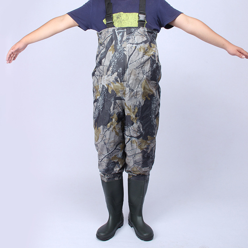 47 Big Size Bionic Camo Full Body Wading Pants Nylon PVC Waterproof Breathable Fishing Clothes Outdoor Hunting Fishing Rain Pant
