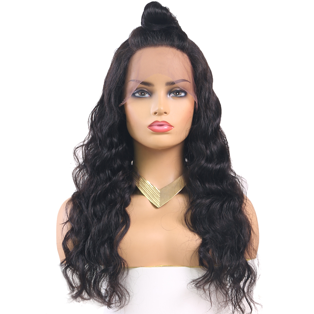 Brazilian 13x4inch Lace Front Human Hair Wigs For Black Women Euphoria Natural Color 100% Remy Human Hair Wig Long Wavy Lace Wig