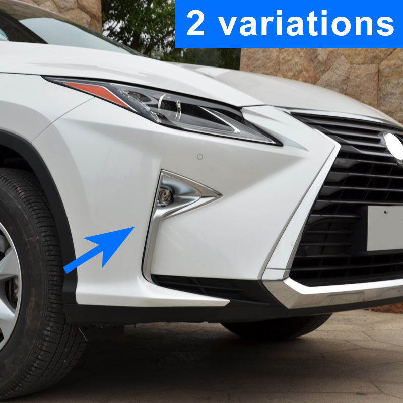 ABS Chrome Molding Front Foglight Fog Light Lamp Cover Trim Fit For <font><b>Lexus</b></font> RX450h <font><b>RX350</b></font> 2016 2017 <font><b>2018</b></font> 2019 <font><b>Accessories</b></font> image