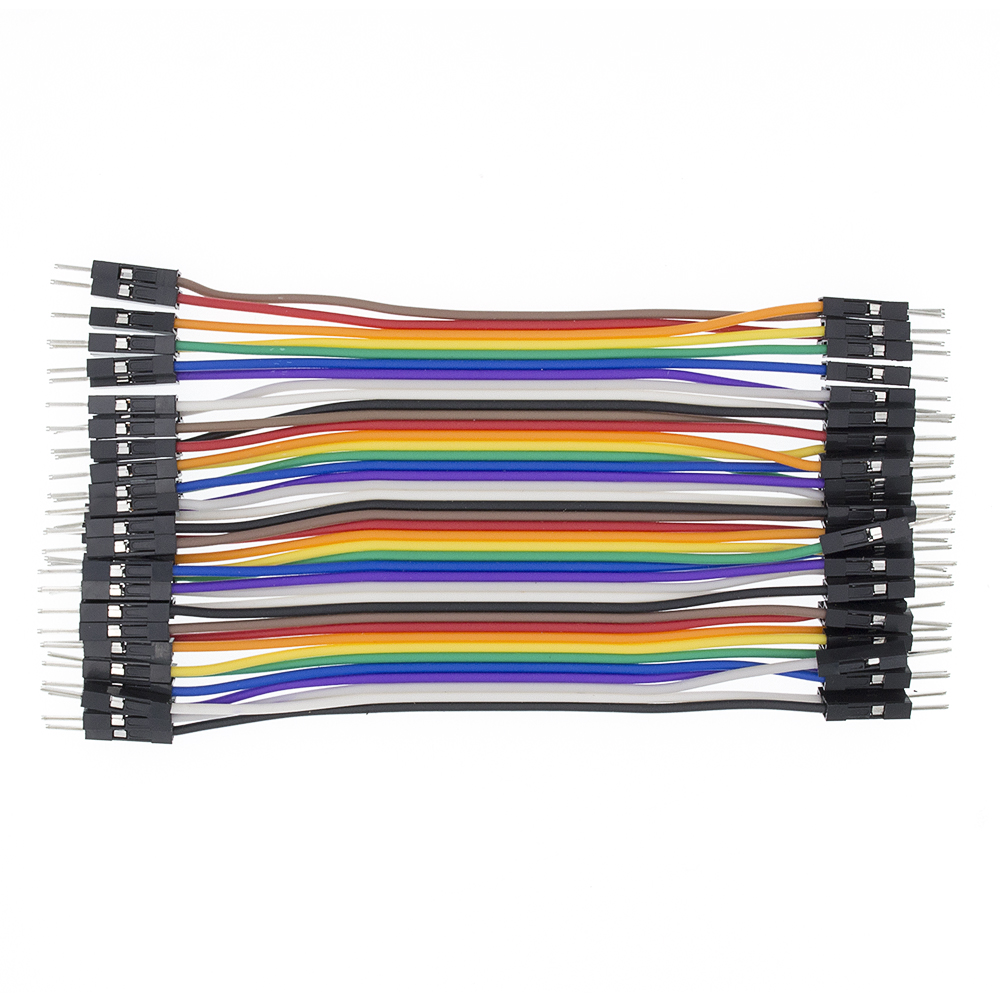 2,54 мм Dupont Line 20 см 10 см 40Pin Male to Male+ Female to Female Jumper Wire Dupont Cable DIY KIT - Цвет: 10cm M to M