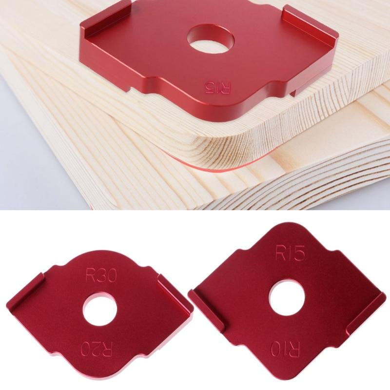 2018 2 Pcs Wood Panel Radius Quick-Jig Router Table Bits Jig Corner Templates Kit
