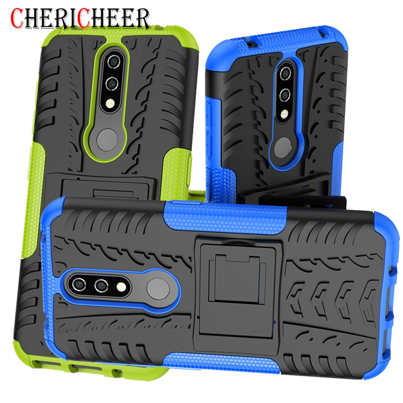 Rugged Phone Case For <font><b>Nokia</b></font> 6.<font><b>1</b></font> 7.<font><b>1</b></font> 8.<font><b>1</b></font> 2.<font><b>1</b></font> <font><b>3</b></font>.<font><b>1</b></font> 5.<font><b>1</b></font> Plus 4.2 <font><b>3</b></font>.2 X5 X6 X7 Armor Stand Case For <font><b>Nokia</b></font> 6 <font><b>2018</b></font> <font><b>1</b></font> 2 <font><b>3</b></font> 5 6 8 Cover image
