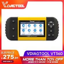 VDIAGTOOL VT360 OBDII Car Diagnostic Tool ABS Airbag SAS BRT EPB DPF TPA TPMS Immo Oil Reset Injector OBD2 Automotive Scanner