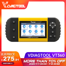 VDIAGTOOL VT360 OBDII Strumento di Diagnostica Auto ABS Airbag SAS BRT EPB DPF TPA TPMS Immo Reset Olio Iniettore OBD2 Automotive scanner