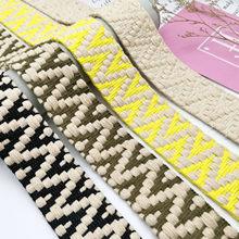 4cm de largura tecido em forma de onda pequeno vento perfumado algodão webbing vestuário sapatos acessórios de vestuário 1 jarda