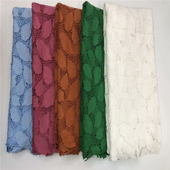 African lace fabric guipure lace fabric 2020 For tissu guipure haute qualite lace african cord lace fabric for wedding r82-932