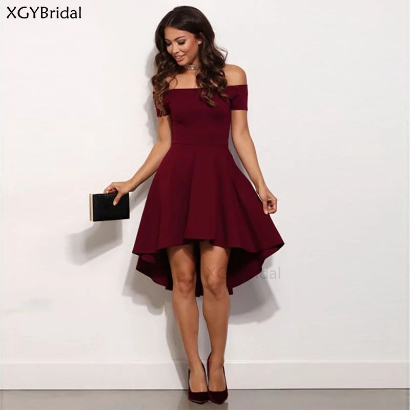 New Arrival Short Evening Dress 2021 A-line Evening Gown Elegant Formal Dress Off The Shoulder Party Dress Robe De Soiree