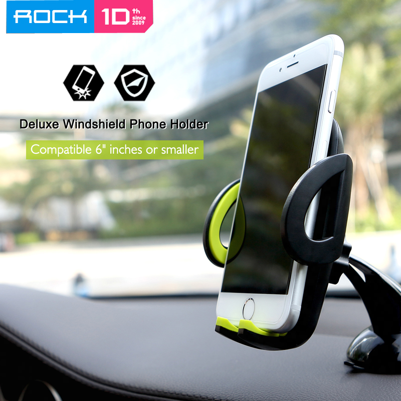 Original Rock 360 Rotate Adjustable Car Mobile Phone Holder Stand For IPhone 8 Plus For Samsung Galaxy Note 10 S9 Plus GPS