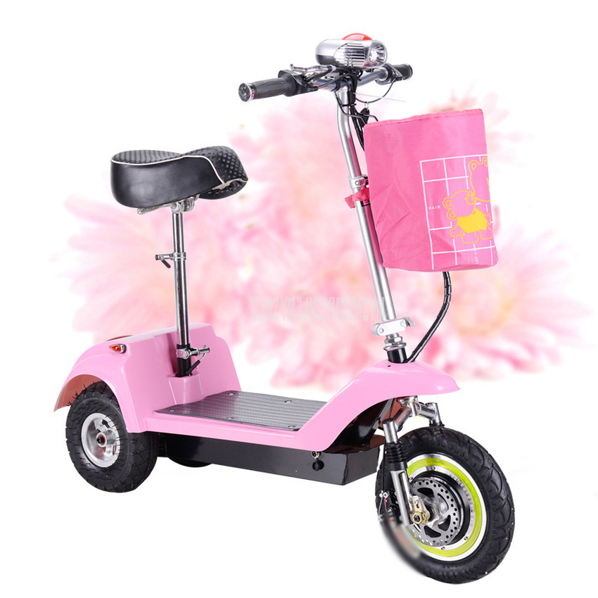 Adult Mini Foldable Electric Scooter 3 Wheel Lady Women Mini Electric Bike Bicycle Instead Of Walking <font><b>36V</b></font> <font><b>300W</b></font> Brushless <font><b>Motor</b></font> image