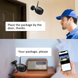 Image 5 - 1080P HD واي فاي كاميرا لاسلكية CCTV IP كاميرا معدنية في الهواء الطلق مراقبة الأمن الأشعة تحت الحمراء للرؤية الليلية اتجاهين الصوت P2P