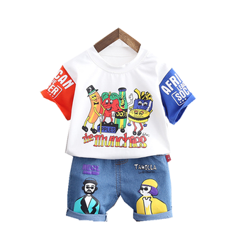 Kids Clothes Suit New Summer Children Boys Girls Cartoon T Shirt Shorts 2Pcs/sets Baby Toddler Casual Clothing Infant Sportswear 2017 new summer children clothing sets little pony t shirt tulle tutu skirt 2pcs suit kids casual sport suit girls clothes set