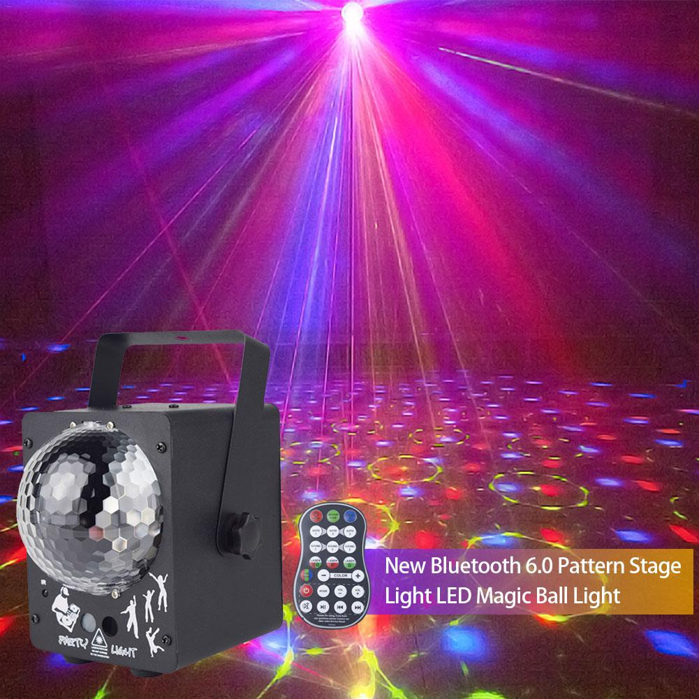 New Bluetooth 6.0 Pattern Stage Light LED Magic Ball Light Stage Professional Lighting Decorative Lights|Stage Lighting Effect| |  - title=