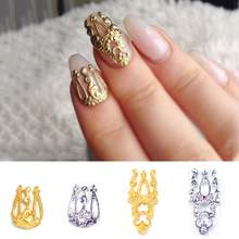 Vintage Hollow Alloy Decoration Nail Art Sticker Tip Decal Women DIY Manicure Catch this beautiful accessories for_you Wonderful(China)