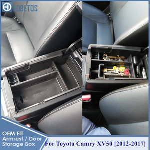Image 1 - * Camry Car Armrest Box Center Console Storage Glove Box Organizer Insert Tray For Toyota Camry 2012 2013 2014 2015 2016 2017