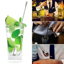 1pcs 12 Inch Stainless Steel Bar Spoon Stirrers Bartending Mixed Spoon,Spiral Pattern Bar Cocktail Shaker Spoon