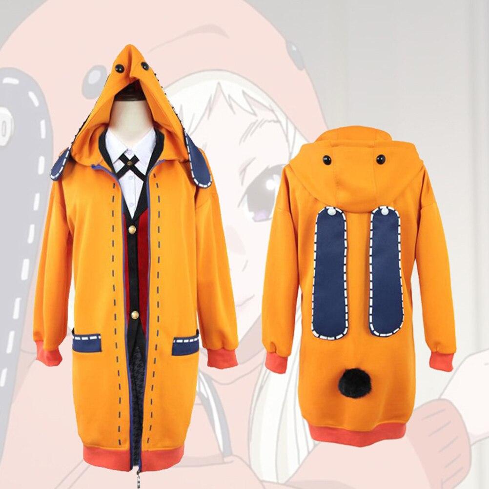 Anime Cosplay Costume Clothings Anime Yomoduki Runa Cosplay Costume For Girls Women Orange Coat Hoodies Zip Jacket Coat 1