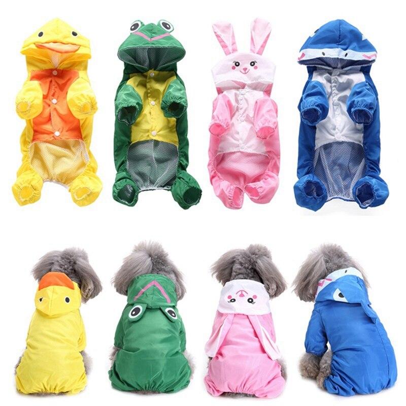 Summer Dog Rain Coats Waterproof Clothes Jacket Dog Jumpsuit Cute font b Pets b font Raincoat
