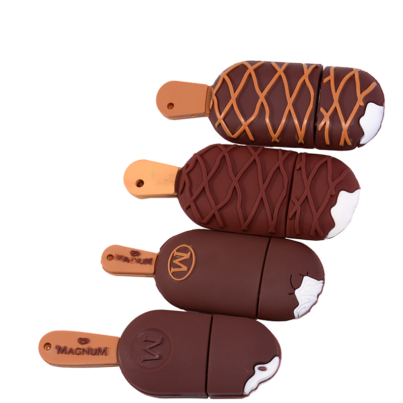 5 Styles Cute Ice Cream Pendrive Usb Flash Drive Pen Drive 4GB 8GB 16GB 32GB USB 2.0 Memory Stick U Disk Gift Free Shipping