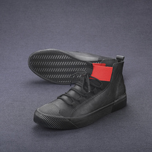 Best Selling Leather Boots Men Mid-Top Casual Boots Men Anti-Slip Young Boy Casu