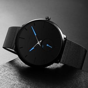 Image 3 - DONROSIN Men Casual Slim Black Mesh Steel Wrist Sport Watch Fashion Mens Watches Top Brand Luxury Quartz Watch Relogio Masculino