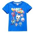 Детская футболка с кошками Gabby, летняя одежда для мальчиков, топы для девочек, Рождественская рубашка с коротким рукавом для кукольного доми...