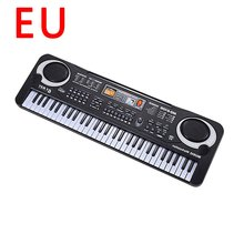 Piano Keyboard Microphone Digital Electronic Portable with 61-Keys Toy Beginner Children's
