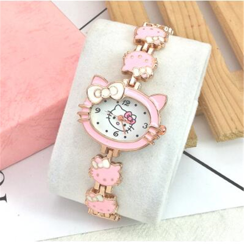 New Cute Children Watch Girl Bracelet Steel Ms Watch Women Students Wrist Watch