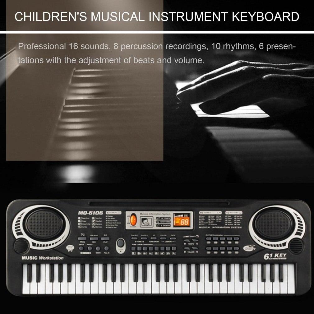 61 chaves de música teclado digital eletrônico