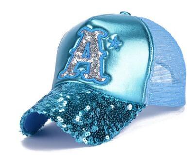 Sequin Leather Mesh Cap Hat...