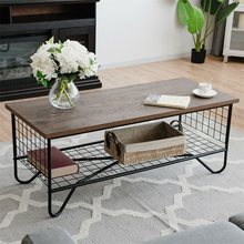 Coffee Accent Cocktail Sofa Side Table Solid Metal Frame HW59329(China)