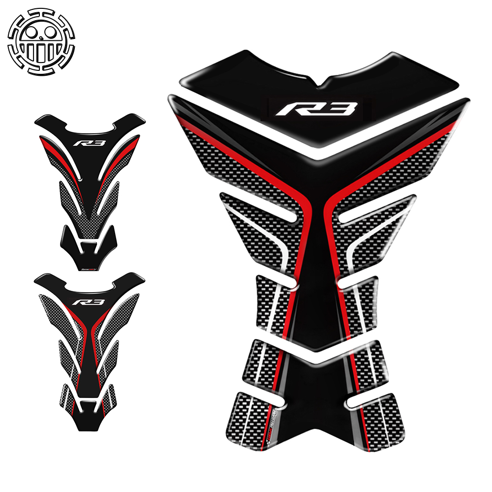 Yzf R3 Motorcycle Sticker Tank Pad Protector Decals Stickers Case For Yamaha R3 YZF-R3 VS Tankpad