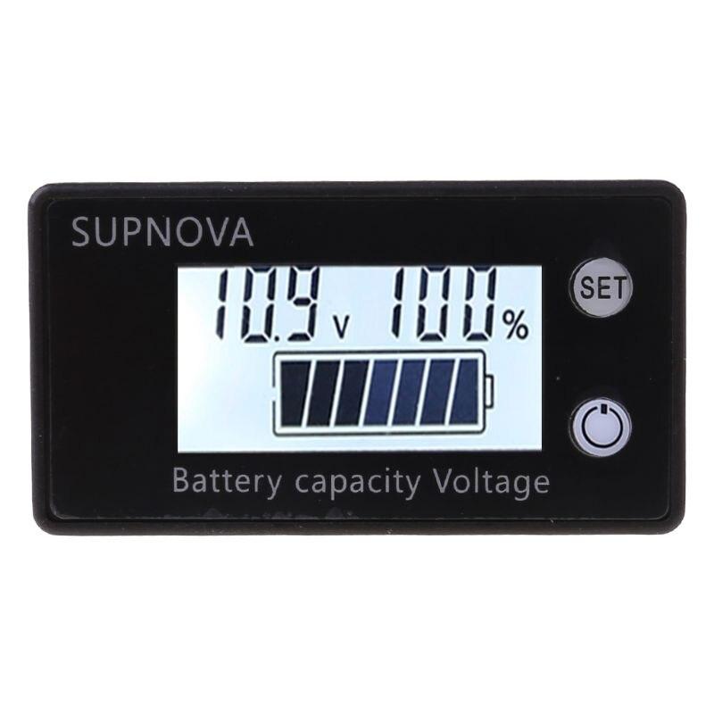 Индикатор емкости батареи 8 в-100 В постоянного тока, свинцово-кислотный литиевый LiFePO4 Ternary литиевый вольтметр измеритель напряжения 12 в 24 в 48 ...
