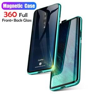 360 Полный Магнитный чехол для Oneplus 7 Pro Oneplus7 6 6T металлический бампер переднее прозрачное закалённое стекло чехол для Oneplus 6T 6 Чехол