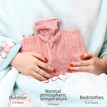 Women Girls Warming Hand With Cover Hot Water Bottle Winter