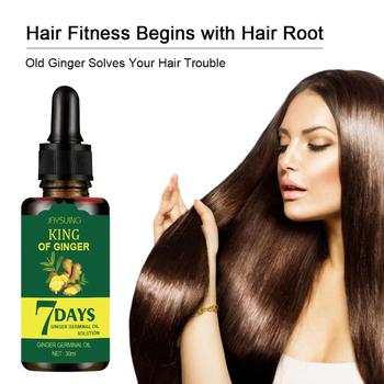 Imbir wzrost włosów pielęgnacja włosów olejek 30ml Serum olejek przeciw wypadaniu włosów płyn zniszczone włosy naprawy rosnące TSLM1 tanie i dobre opinie FH181384234 CN (pochodzenie) Ginger essential oil 1pcs Hair care oil MZ266984 Dropshipping Wholesale