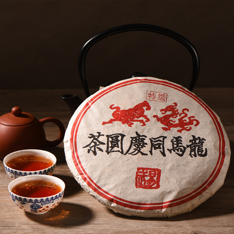 Ripe Puer Tea 357g 1999 Yr Tong Qing Hao Chinese Yunnan Menghai Tea Factory Puer Cake Green Food China 100% Authentic Puerh Tea