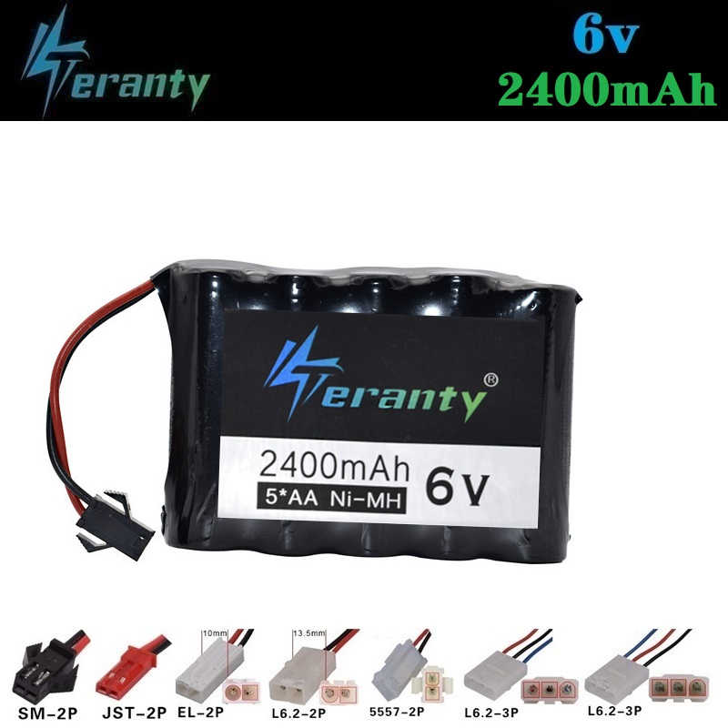 6V 2400mAh Battery for Remote Controul toys Cars lighting secuity faclities 6v NiMH battery TOYS Trucks Gun Boat battery group